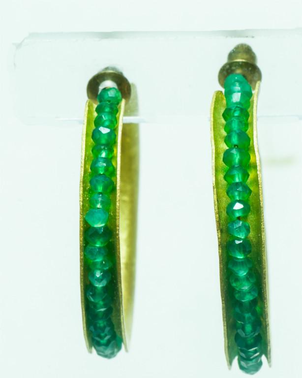 Aros esmeraldas